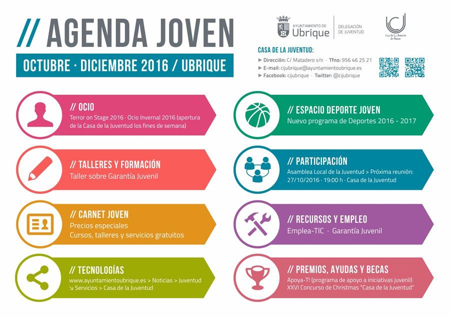 Agenda Joven de Ubrique para los meses de octubre, noviembre y ...