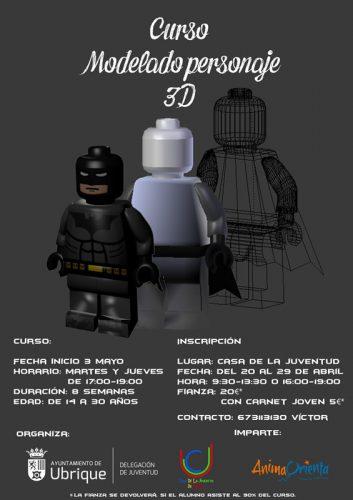 cartel curso modelado 3d
